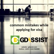 common slip-ups in visa application