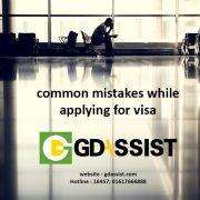 common slip-ups in visa application